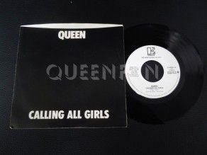 "7"" Vinyl single Queen Calling all girls (USA) Promo"
