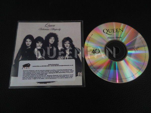 Cd Single Queen Bohemian Rhapsody (UK) Promo