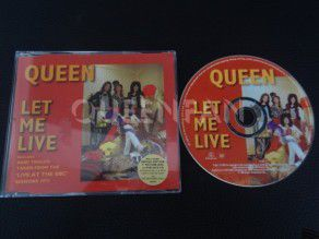 Cd Single Queen Let me live (Holland) Red