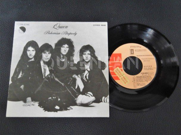 """7"""" Vinyl single Queen Bohemian rhapsody (Spain) Promo"""
