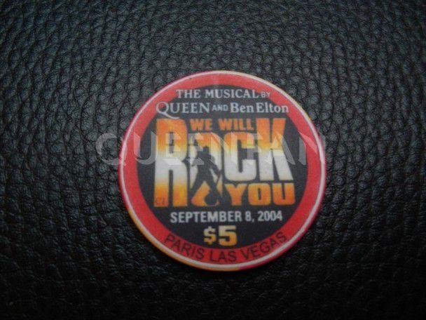 Queen We Will Rock You Casino Chips US Promo memorabilia