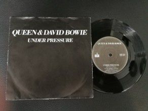 "7"" Vinyl single Queen and David Bowie Under Pressure (Ireland)"