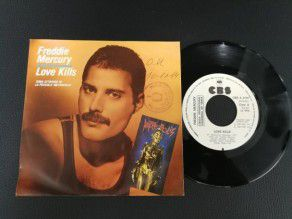 "7"" Vinyl single Freddie Mercury Love kills (Spain) Promo (Queen)"