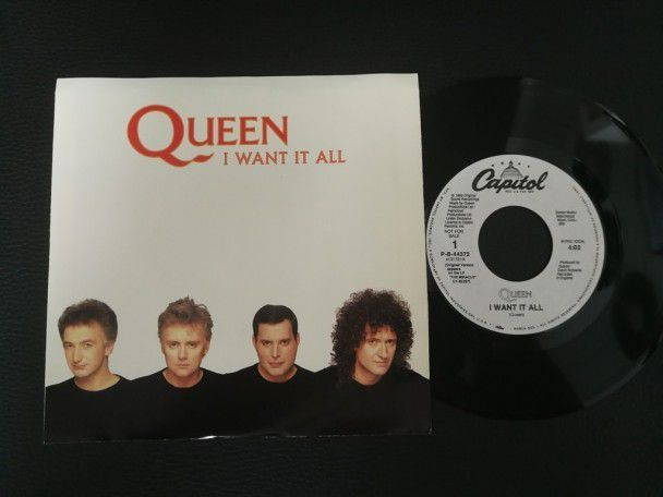 "7"" Vinyl single Queen I want it all (USA) Promo"