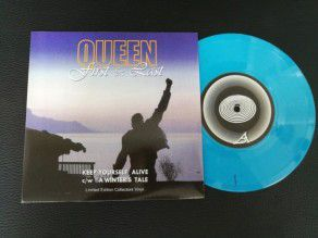 "7"" Vinyl single Queen First & Last Keep Yourself Alive - A Winter's Tale (UK) Blue Vinyl"