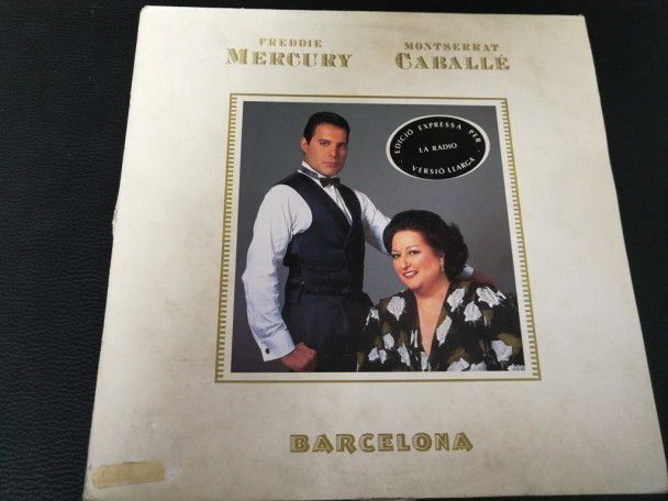 "12"" Vinyl maxi Freddie Mercury Barcelona (Spain) (Queen)"