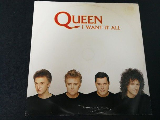"12"" Vinyl maxi Queen I want it all (Australia)"