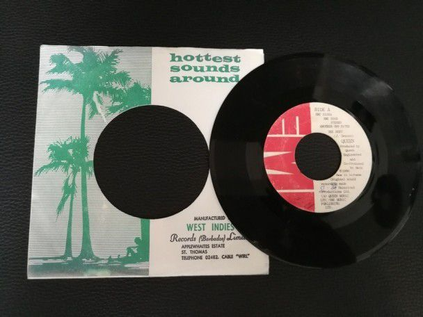 "7"" Vinyl single Queen Another one bites the dust (Barbados)"