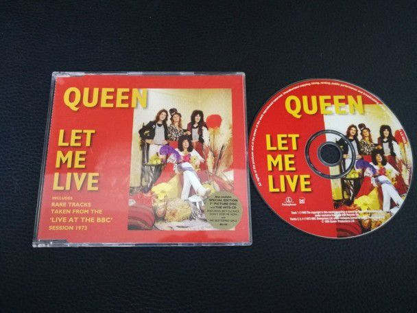 Cd Single Queen Let me live (UK) Red