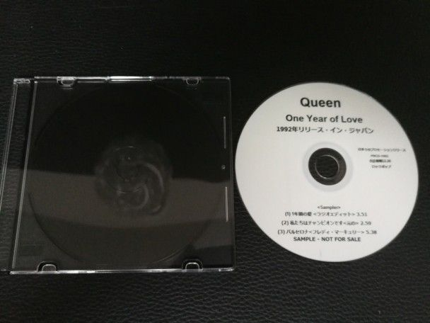 Cd single Queen One year of love...