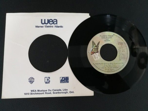 """7"""" Vinyl single Queen Flash (Canada)"""