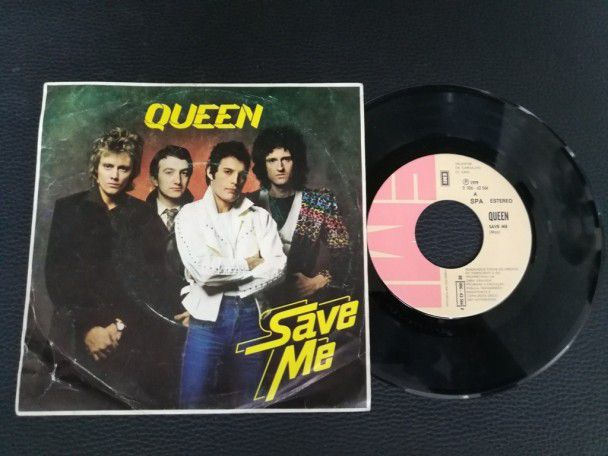 "7"" Vinyl single Queen Save me (Portugal)"