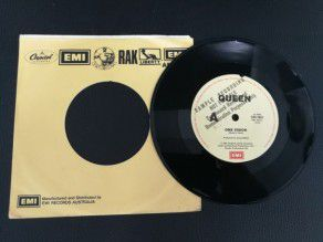 "7"" Vinyl single Queen One vision (Australia) Promo Sample"