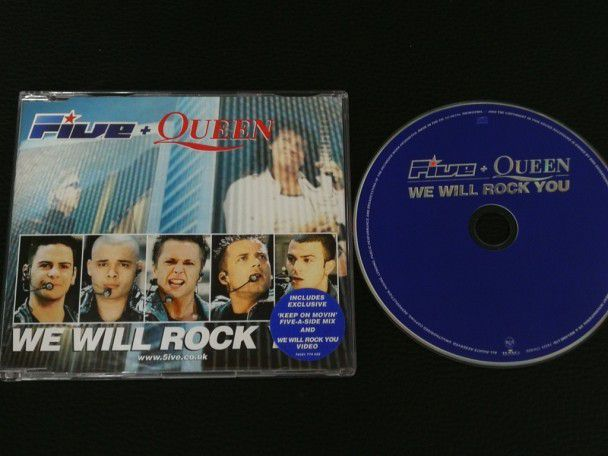 Cd Single Five + Queen We will rock...