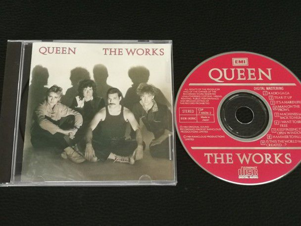 Cd Album Queen The Works (Japan) 1986