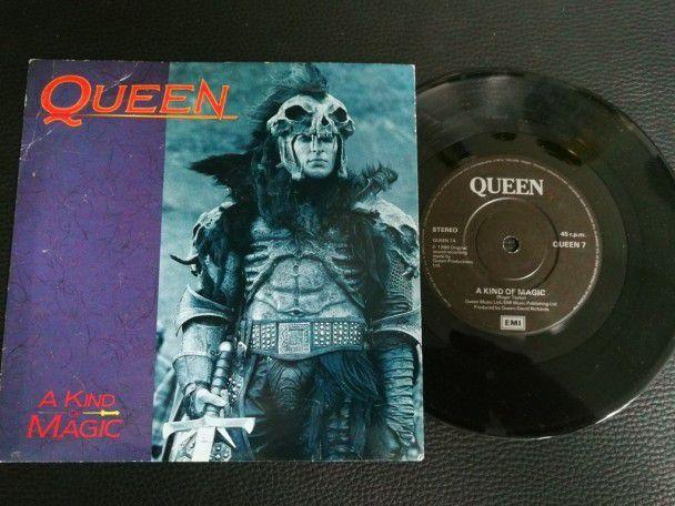 """7"""" Vinyl single Queen A kind of magic..."""