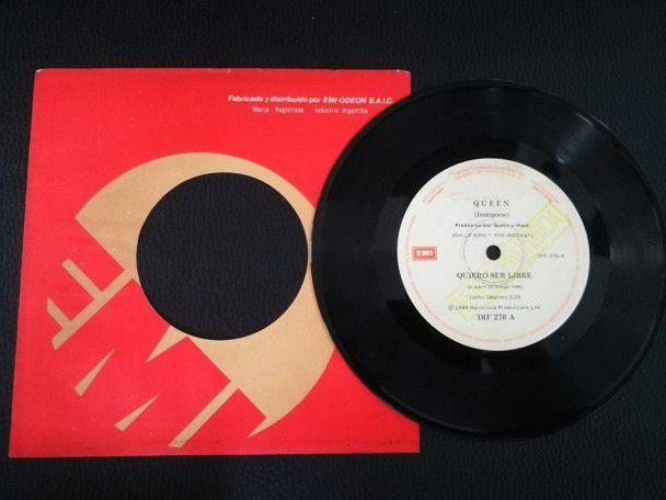 """7"""" Vinyl single Queen I want to break..."""
