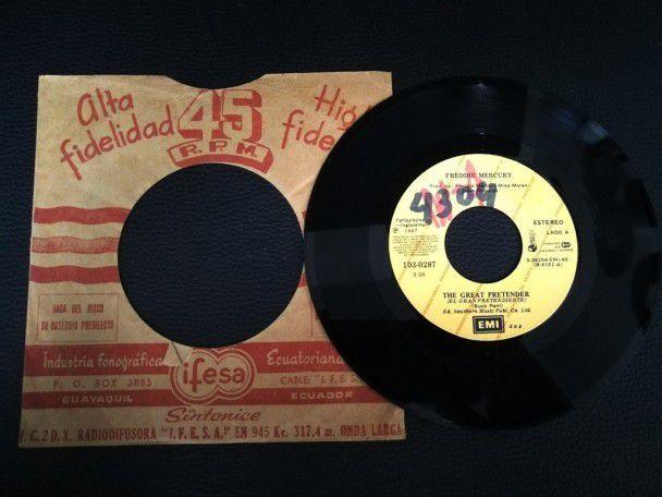 """7"""" Vinyl single Freddie Mercury The..."""