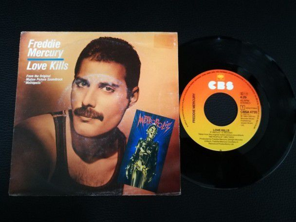"""7"""" Vinyl single Freddie Mercury Love..."""