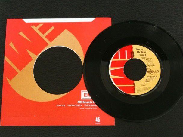 """7"""" Vinyl single Queen You're my best..."""
