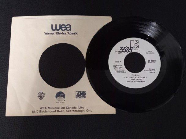 """7"""" Vinyl single Queen Calling all..."""