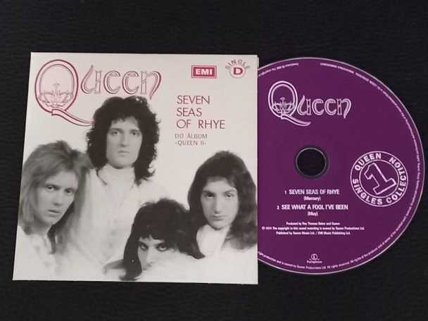 Cd Single Queen Seven seas of rhye...