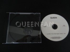 Cd Single Queen Let me in your heart again (France)