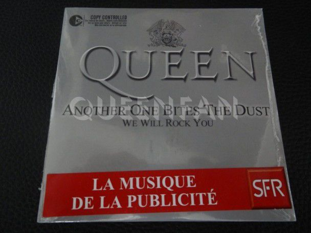 Cd Single Queen Another one bites the dust (France) Promo