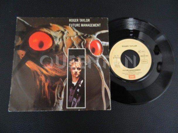 "7"" Vinyl single Roger Taylor Future management (Germany)"