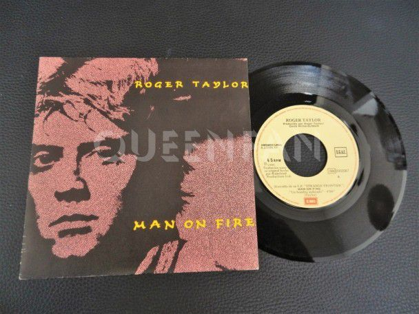 "7"" Vinyl single Roger Taylor Man on fire (Spain)"