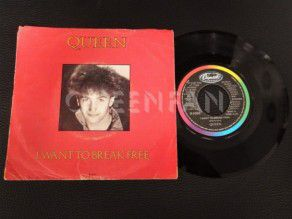"7"" Vinyl single Queen I want to break free (Canada) Deacon"