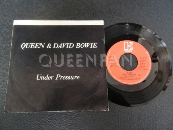 "7"" Vinyl single Queen and David Bowie Under pressure (Canada)"