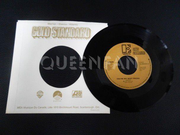 "7"" Queen You're my best friend (Canada) Gold Standard"